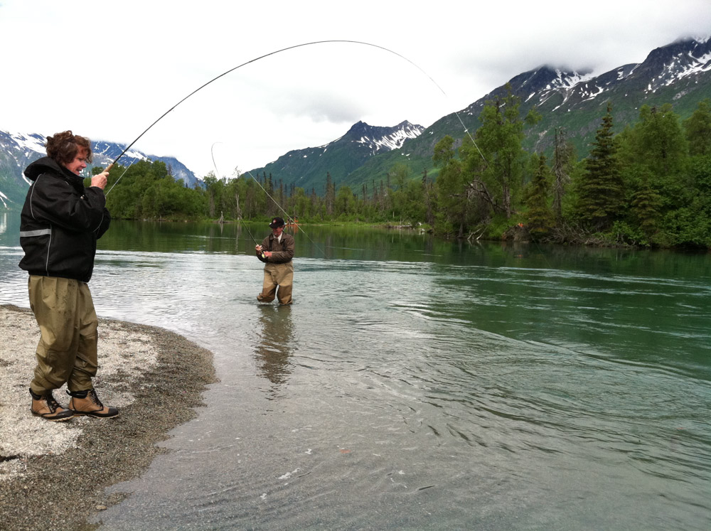 Dream guided and self guided fly in fishing trips via for Alaska fishing vacation packages
